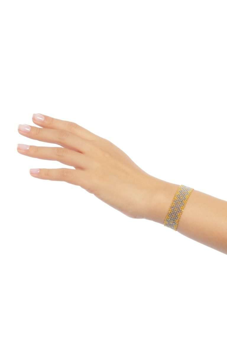 009 mini brazaletes oro platino alt1