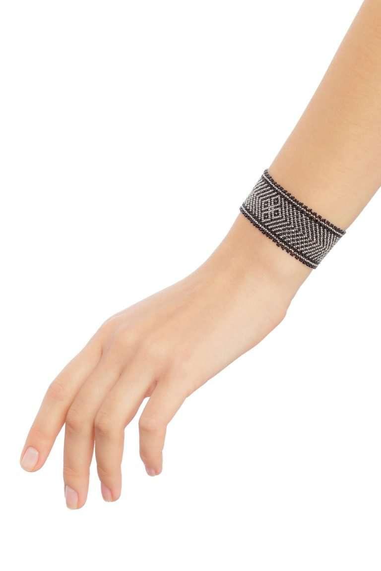 012 brazaletes mediano plata negro alt1