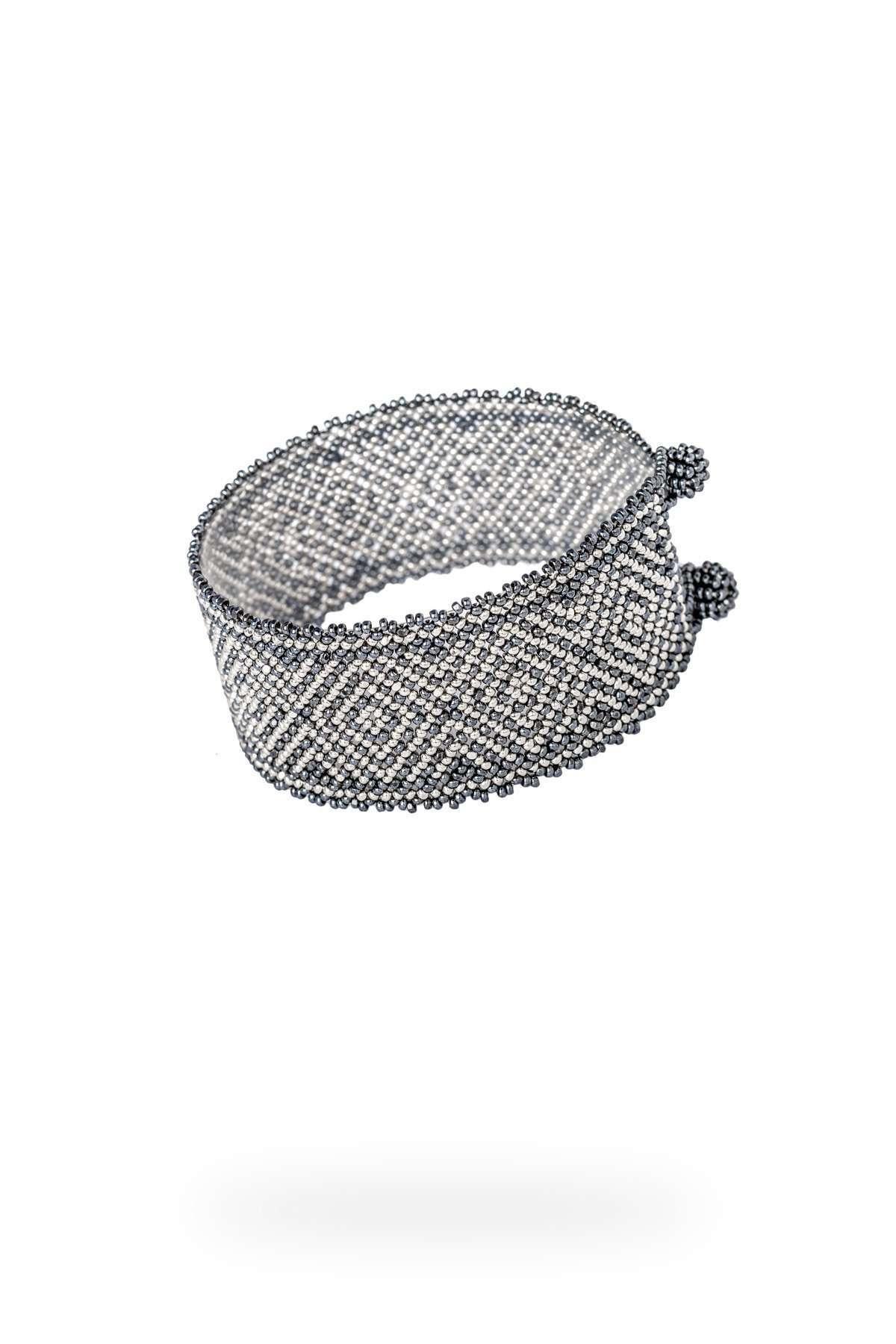 013 brazaletes mediano platino gris