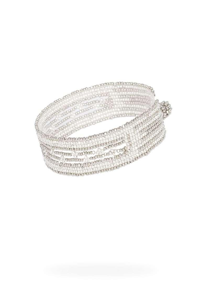 TLB014 brazalete lineal plata platino