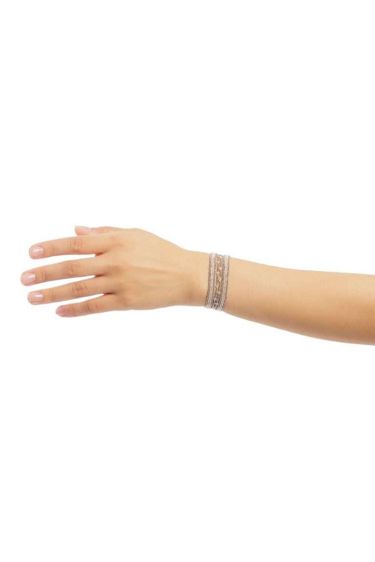 TLB014 brazalete lineal plata platino alt1