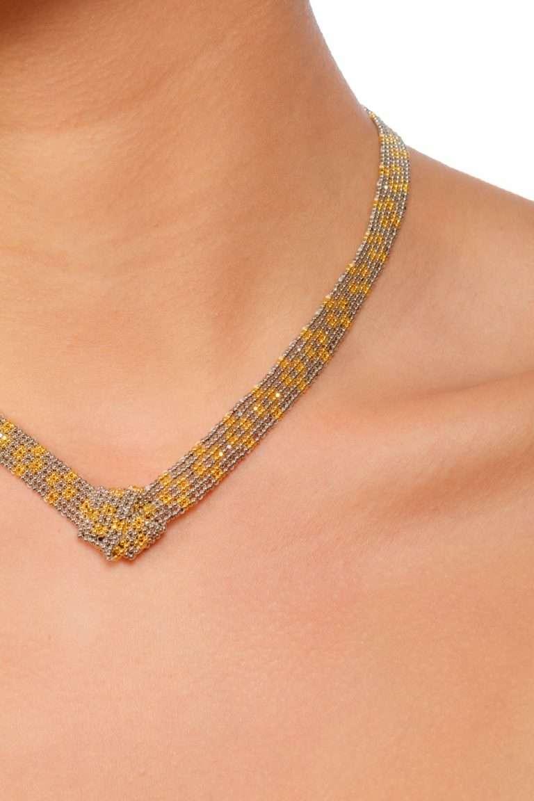 TLG001 collar lineal oro platino alt2