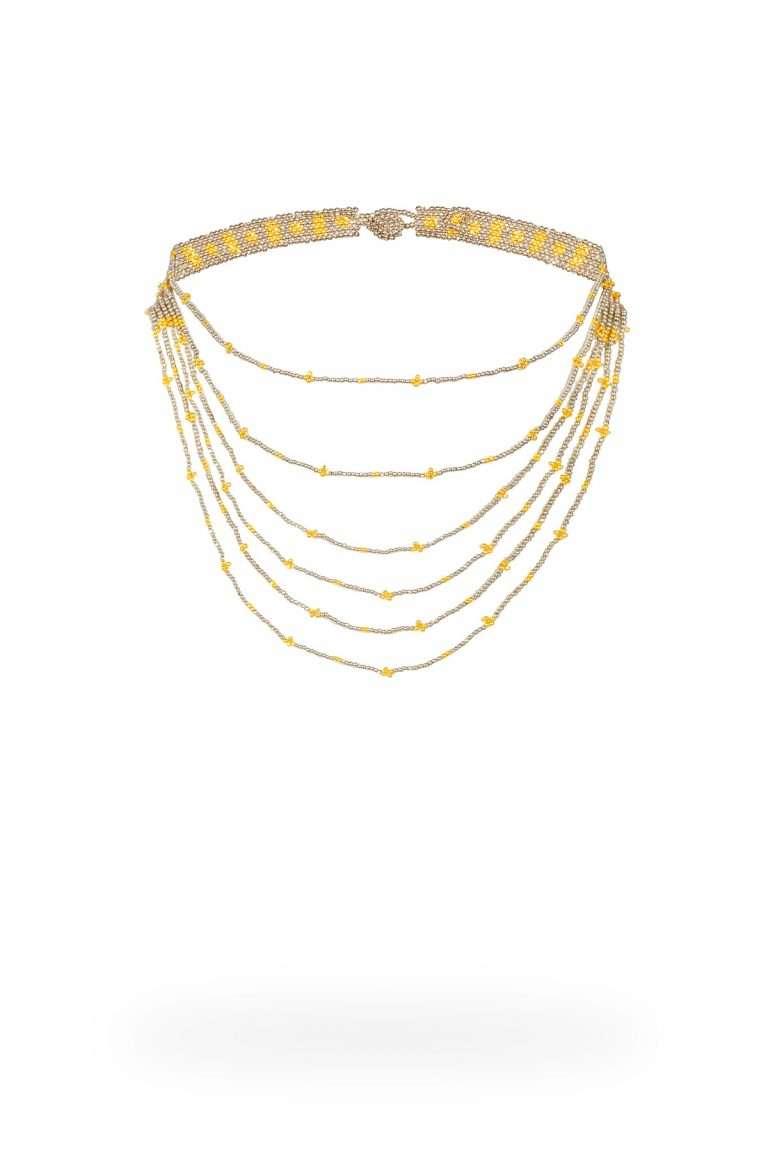 TLG001 gargantillas lineal oro platino