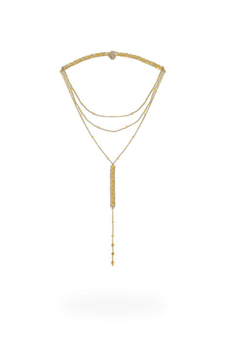 TLG005 collar lineal oro platino