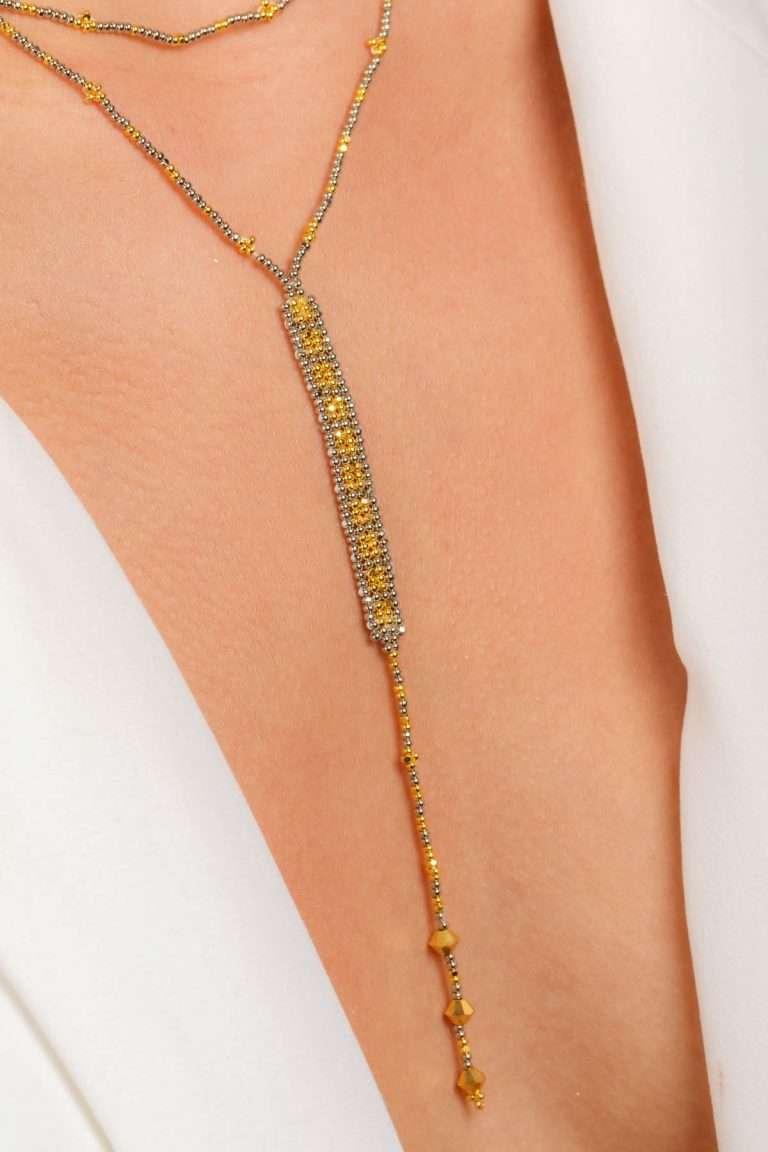 TLG005 collar lineal oro platino alt2