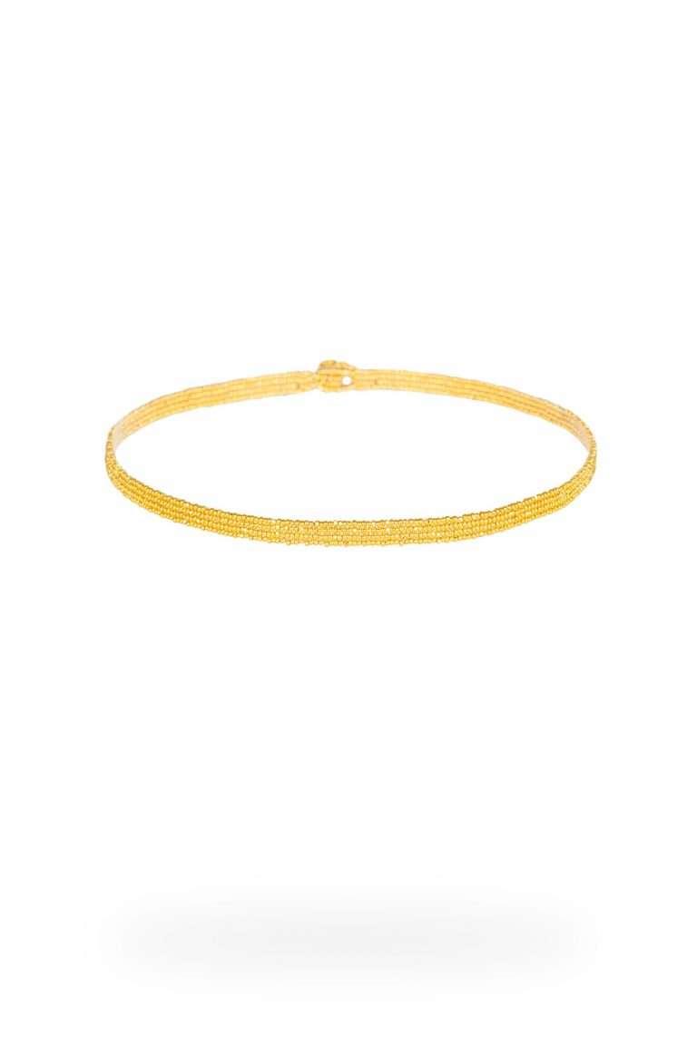 TLG007 gargantillas lineal oro