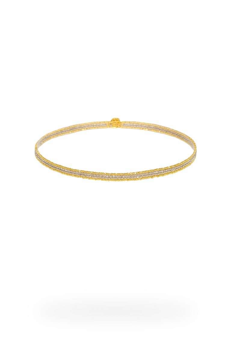 TLG008 gargantillas lineal oro platino